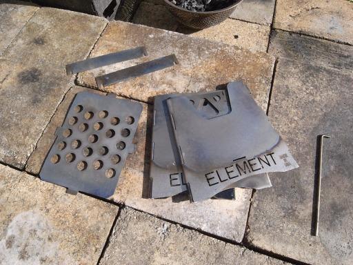 エレメントストーブ畳み