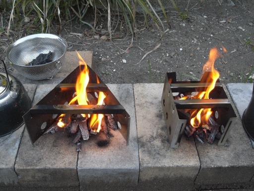 180フレームと180VLの炎